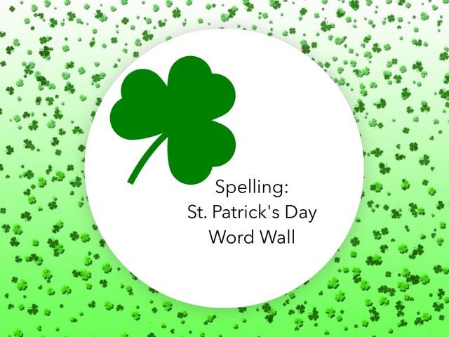 Spelling:St.Patrick's Day   by Carol Smith