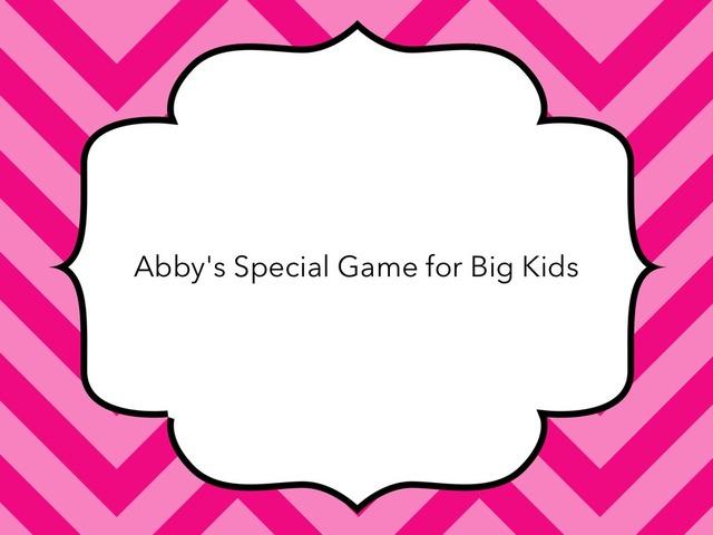 Abby's Special Game For Big Kids (r Sound) by Karen Richtarik
