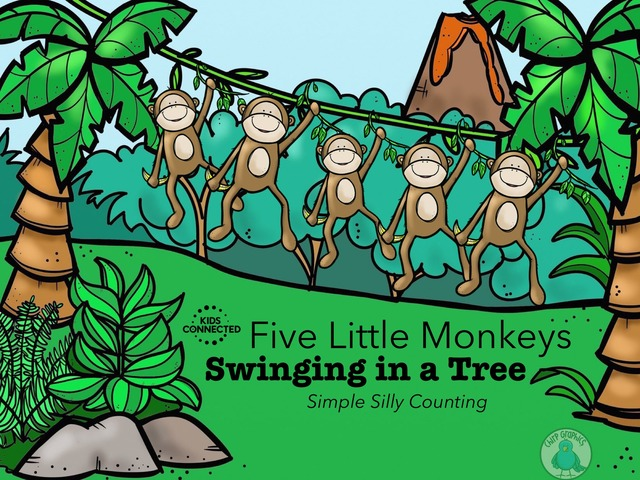 Play Five Little Monkeys Silly Counting By Kids Connected