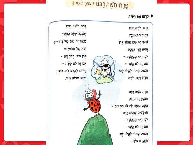 פרת משה רבנו by Vicky Ostrovsky