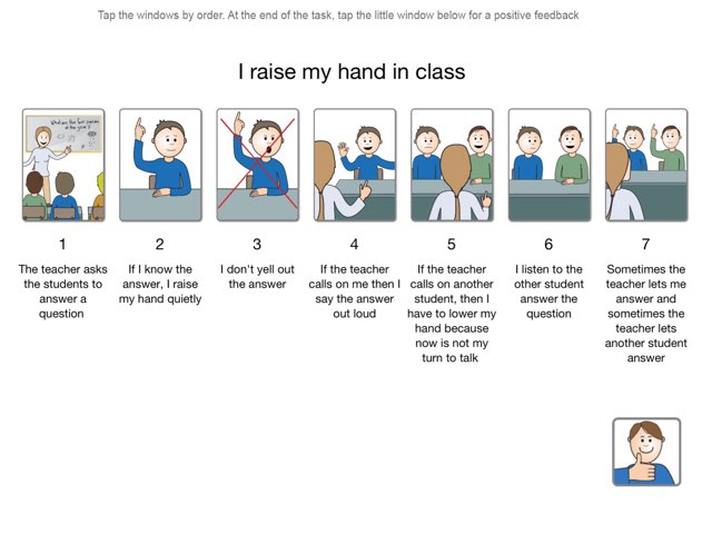 I Raise My Hand In Class by My Life Skills Box