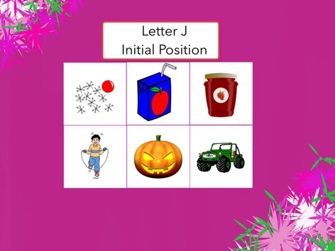 Letter J : Initial Position Of Words  by Carol Smith