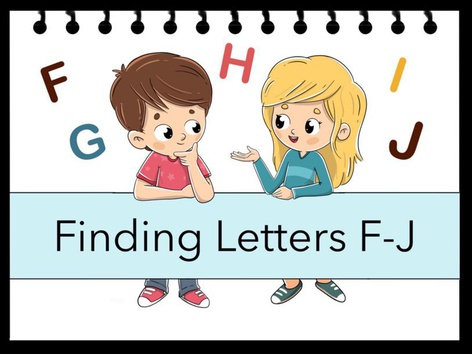 Finding Letters F-J by Cici Lampe