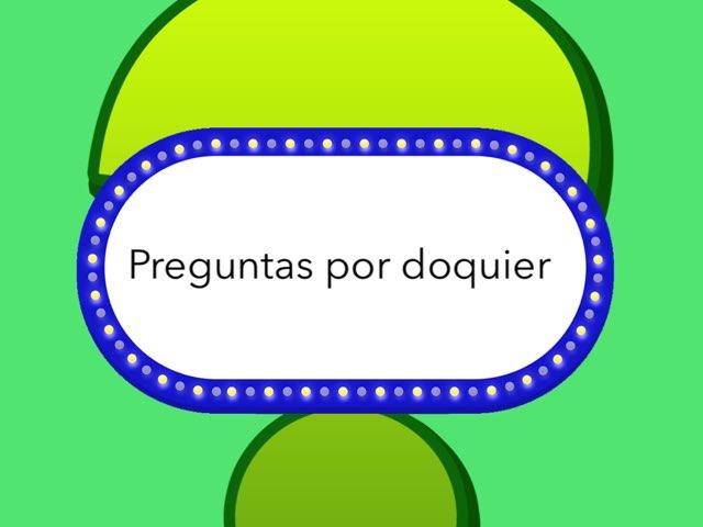 Preguntas Por Doquier by Joshua Ortiz Zuluaga