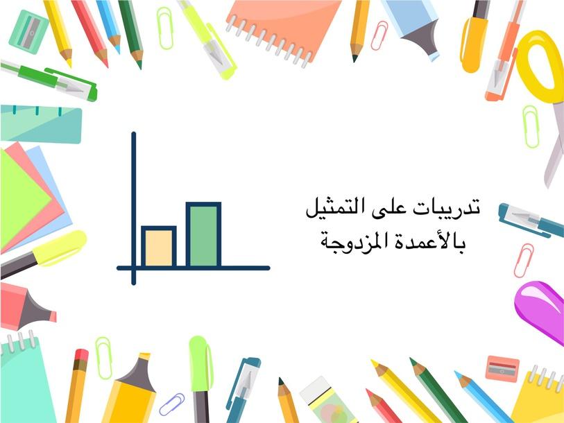 التمثيل بالأعمدة المزدوجة by Masooma Shehabi