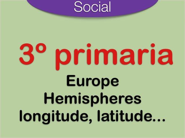 Europe Hemispheres Longitude Latitude by Elysia Edu