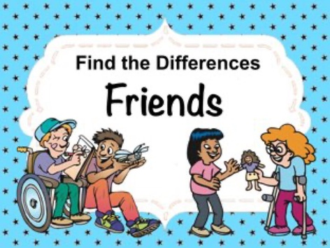 Find The Differences - Friends by Ellen Weber