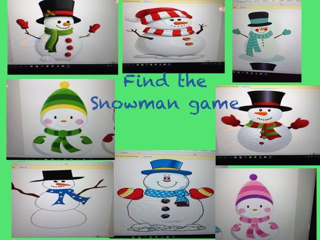 Find The Snowman Game by Mindy Eschenburg
