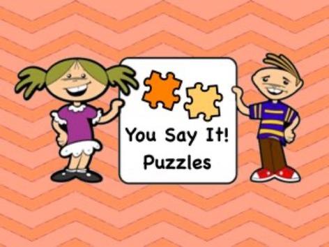 You-Say-It Puzzles by Ellen Weber