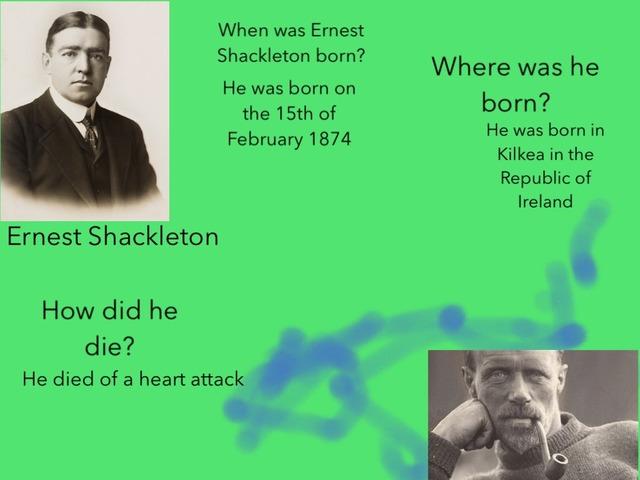 Ernest Shackleton Questions by Birdwell Year2