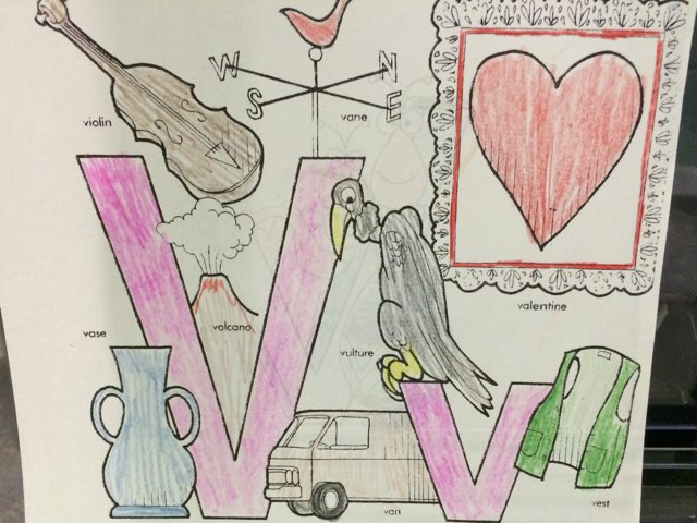 The Letter V by Christine Snow