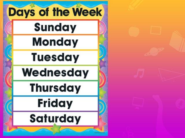 Days Of The Week by Hannai rashid