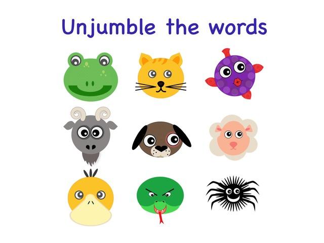 animals spelling unjumble by Teeny Tiny TEFL