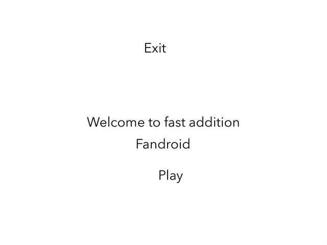 Fast Addition by Fandroid GAME!