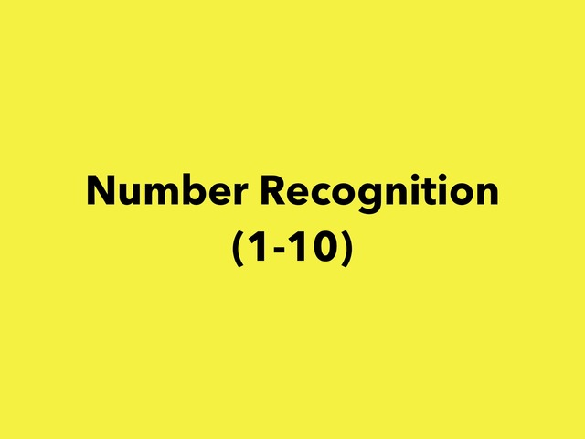 Number Recognition (1-10) by Lori Board