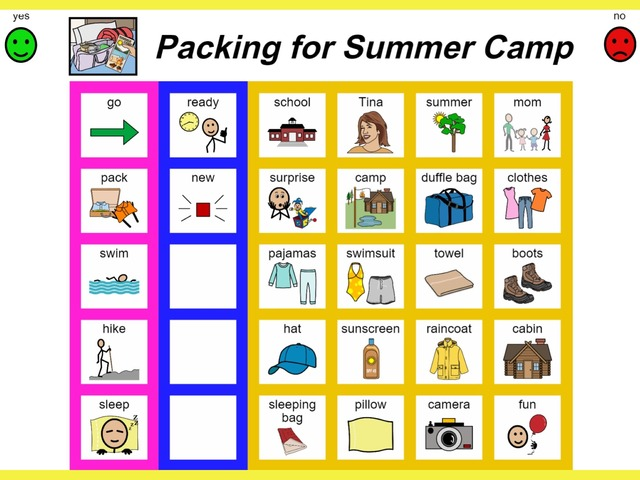 Unique Summer Unit: Packing For Summer Camp - Sight Word Find by Tanya Folmsbee