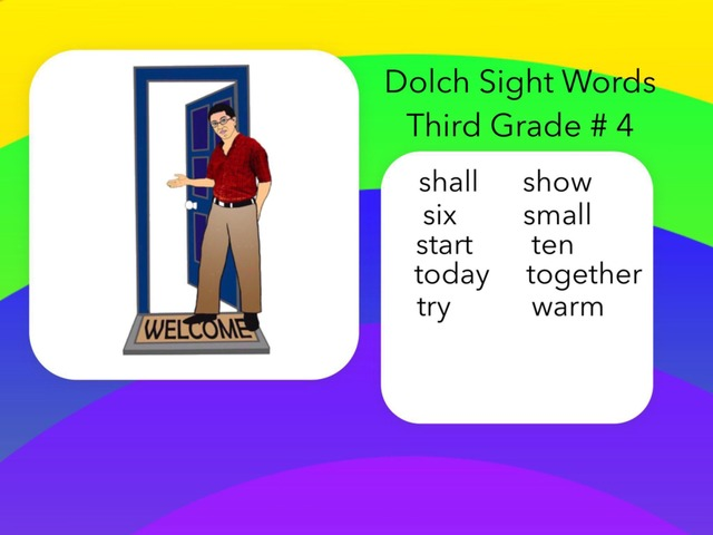 Dolch Sight Words Third Grade #4 by Carol Smith