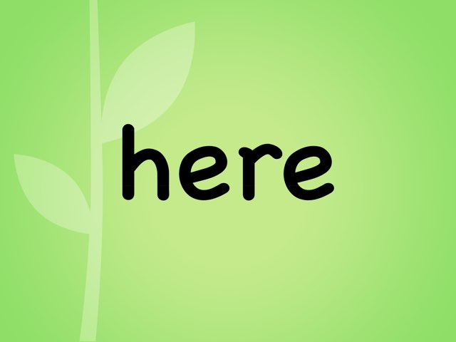 Green Sight Words by Tracey Legge