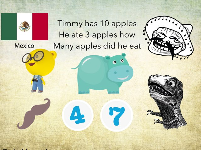 This game is questions about math  For kindergarteners  by Pilot Elementary