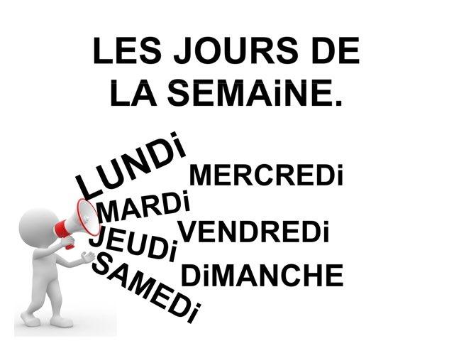 Les Jours De La Semaine Épellation. by Valerie Escalpade