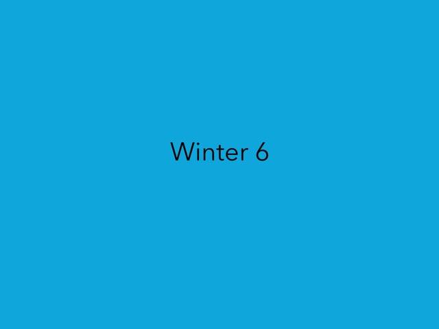 Winter 6 by Jenny Lehman