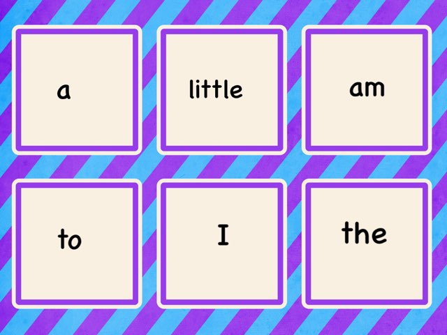 K RS Unit 1-3 sight Words by Jacquie Conway