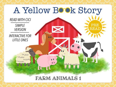 Yellow Book - Animals 1 (With CiCi) by Cici Lampe