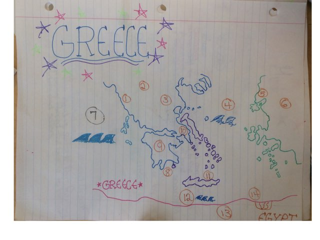 Greece Map by Frances Chapin
