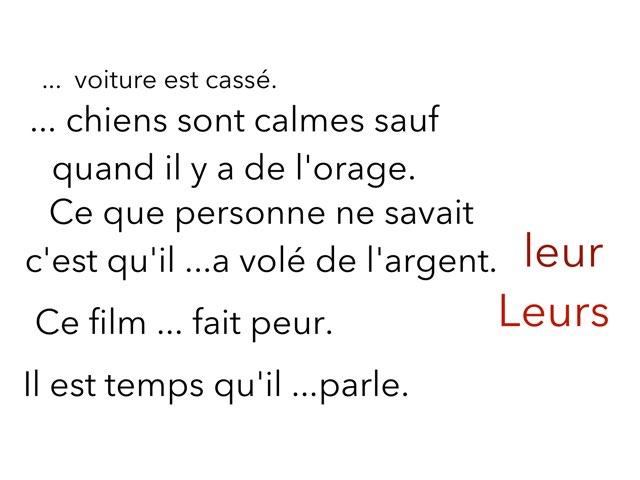 Leur Leurs  by Eugenie Guérin