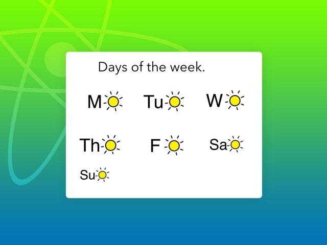 Days Of The Week by Tanya Crowe