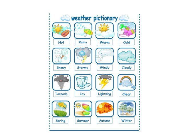 Weather Pictionary by Daniela Rossi