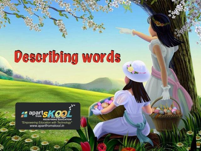 Describing Words by TinyTap creator