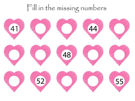 Hearts With Missing Numbers  by Yam Goddard
