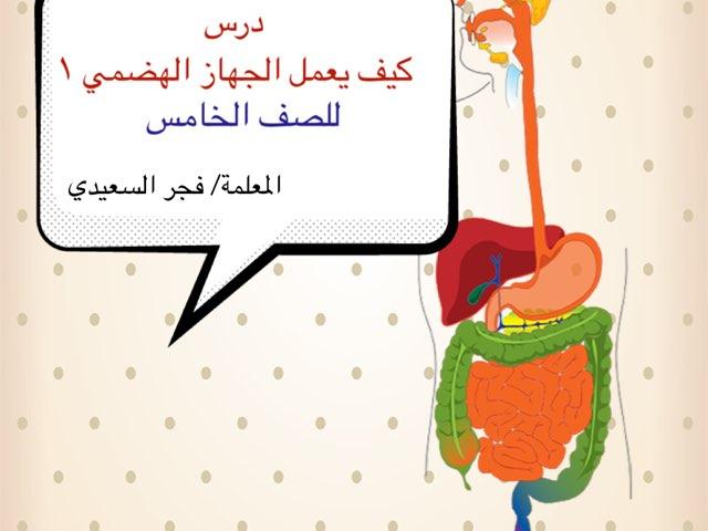 كيف يعمل الجهاز الهضمي ١ by Fajer Alsaeedi