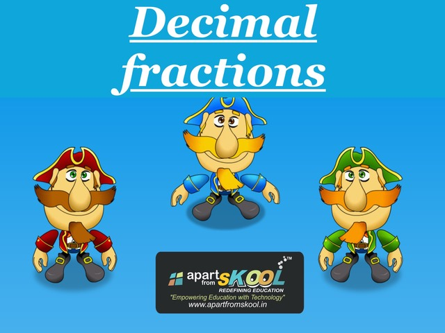Decimal Fractions by TinyTap creator