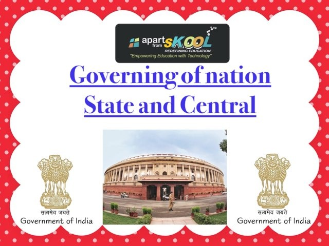 Governing Of Nation State And Central  by TinyTap creator