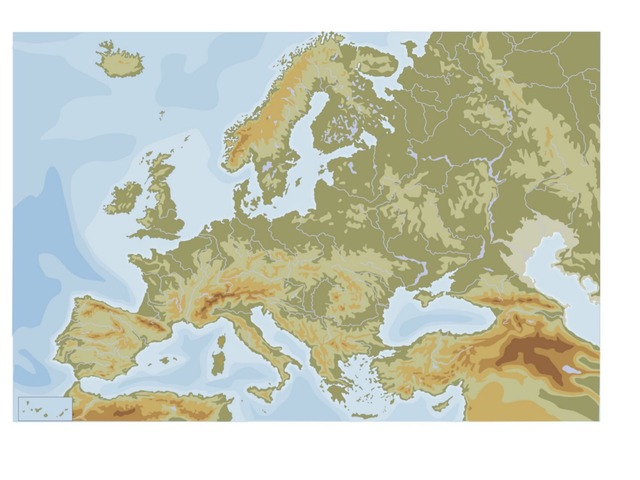 Relieve Y Ríos De Europa by Aitana Longobardo