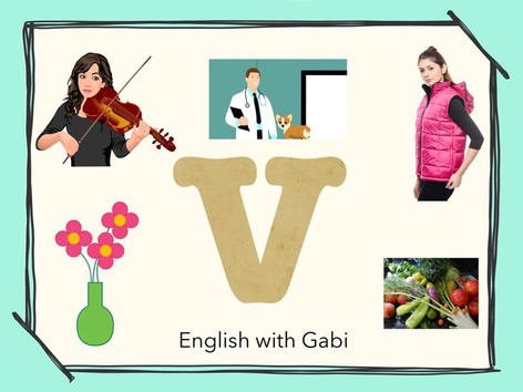 Letter V: Learning Letter Sounds  by English with Gabi אנגלית עם גבי