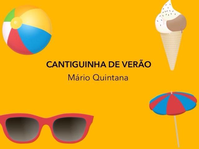 CANTIGUINHA DE VERÃO - Atividade interativa  by Renata Giovannelli