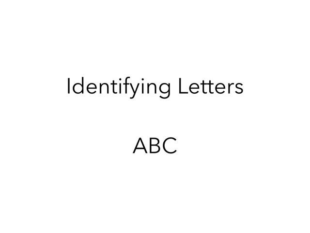 Identifying Letters by Lori Board