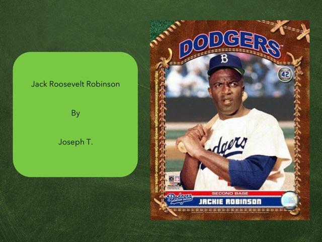 Jackie Robinson By Joseph by Christine Snow