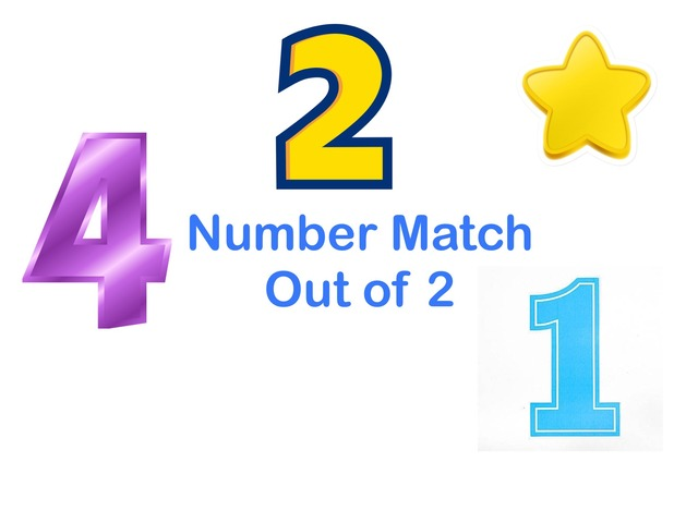 Number Match Out Of 2 by Jennifer Cunningham