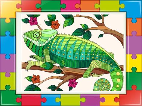 The Chameleon Puzzle  2 by Liat Bitton-paz