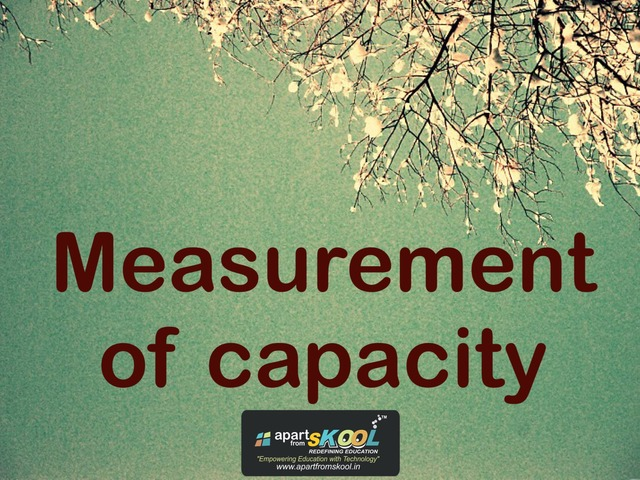 Measurement Of Capacity by TinyTap creator