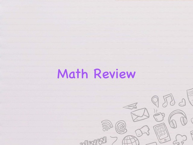 Math review K by Kirsten Jackson