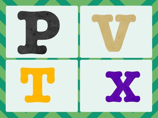 Letter Identification Field Of 4 by Karyn Lisowski