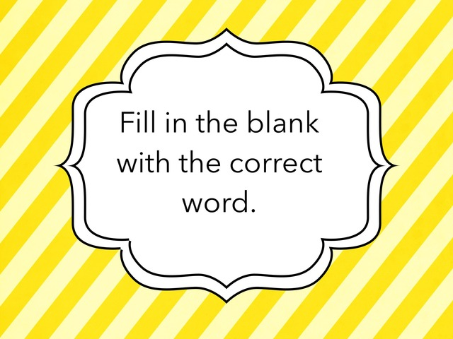 Fill In The Blank by Sheryl Chew Si Ying