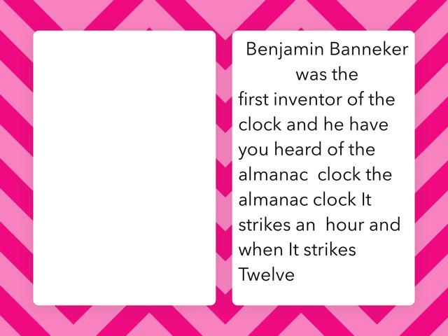 Benjamin Banneker By Shakayla by Christine Snow