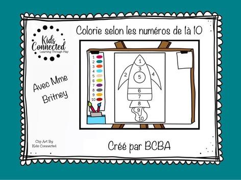 Kit de peinture par numéros de 1 à 10 by Kids  Connected