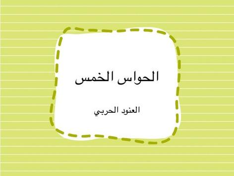 تصنيف الحواس الخمس by العنود الحربي